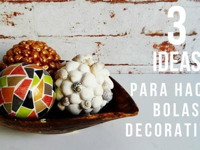 3 ideas para crear bolas decorativas