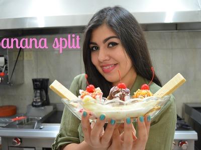 CHUCHEGIRL - Como hacer Banana split con nieve de gansito