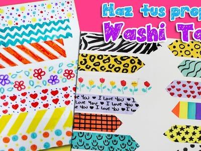 Cintas Decorativas Fáciles de Hacer, Haz tus Washi Tape con 3 simples materiales