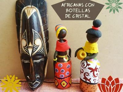 Cómo crear africanas reutilizando botellas de cristal