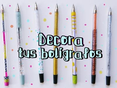 CÓMO DECORAR BOLÍGRAFOS, plumas o lápices. Manualidades Regreso a clases (Nica Bernita)