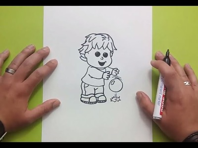 Como dibujar a un niño paso a paso 2 | How to draw a boy 2