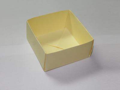 Como hacer una caja de papel facil