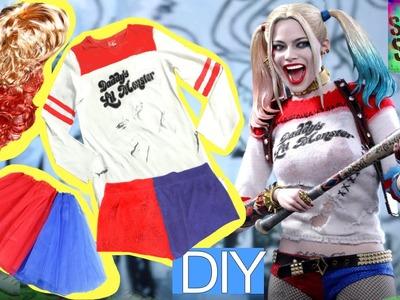 Disfraz casero de HARLEY QUINN del escuadrón suicida para Halloween. parte 2