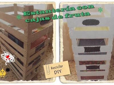 DIY: Estantería hecha con cajas de fruta