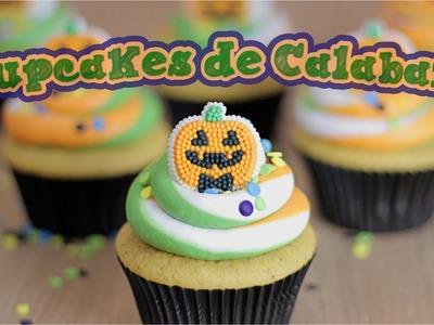Halloween ¡Cupcakes de Calabaza!. Dacosta's Bakery