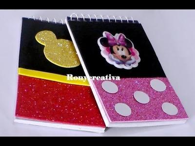 Libretas de minnie y mickey mouse - decora tus cuadernos de mickey & minnie mouse