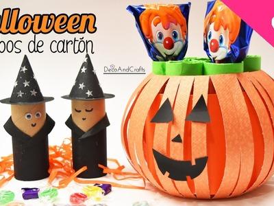 Manualidades para Halloween con tubos de cartón (Colab EcoBrisa Reciclaje)- DecoAndCrafts