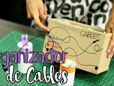 Organizador de Cables con materiales reciclables - no más rollo ni desorden en tu casa - Maleja