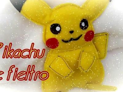 Pikachu de fieltro  - Manualidades con fieltro - pikachu pattern-  J&R