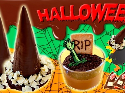 RECETAS para HALLOWEEN * 3 ideas DULCES de halloween con CHOCOLATE
