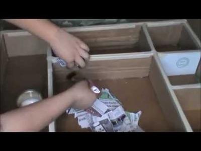 """Reciclando cajas de cartón """"MARCO ESTANTERÍA"""""""