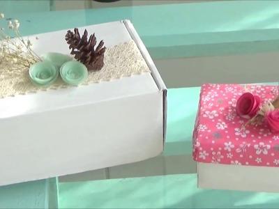 Reutiliza y decora tus cajas de cartón ♥♥♥