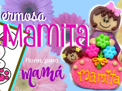 Como hacer a una mamá de bombón - How to make a marshmallow mom