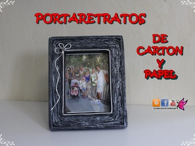 Portafotos de carton y papel - Picture frame cardboard and paper