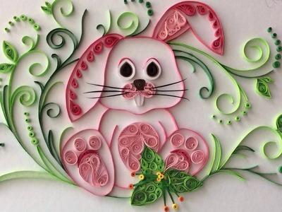 Quilling rabbit - paper