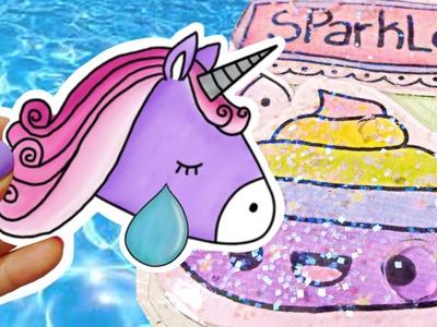Caca, Unicornio y Arcoiris! Haz Stickers Liquidos! Manualidades Kawaii