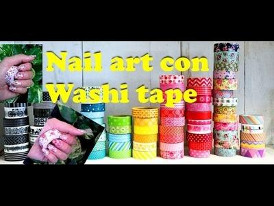 Como decorar tus uñas con washi tape!! Facilisimo!! (principiantes)
