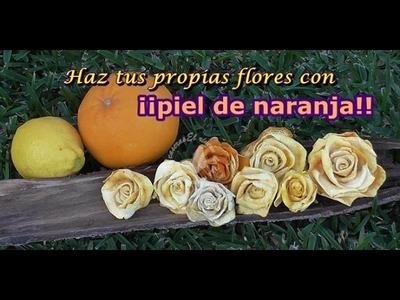 Cómo hacer flores con cáscara de naranja.