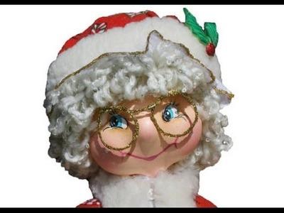 Como hacer Mama Noel fofucha en foamy para esta Navidad
