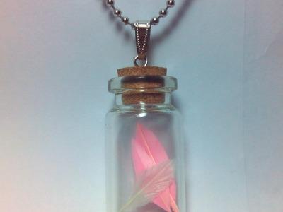 Como hacer un collar de plumas embotelladas - Hazlo tu Mismo Estilo - Guidecentral