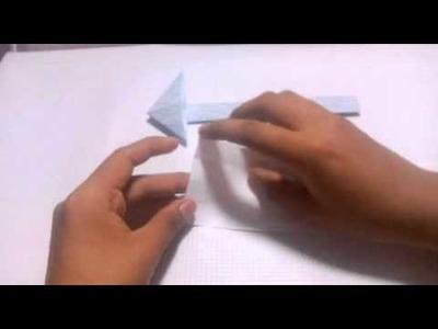 Como hacer una flecha de papel muy facil de hacer