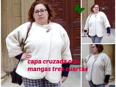 DIY: CAPA CRUZADA CON MANGAS TRES CUARTAS