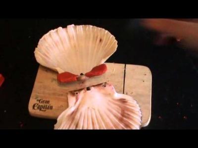 Reciclaje de Conchas para hacer regalos personalizados para novios