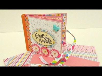 "TUTORIAL Mini álbum 4""x 4"" ""Birthday Wishes"" Por LUISA PAPERCRAFTS ✄ Dulce Scrap"
