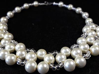 Collar de Perlas y Misangon. Clase #20!!!
