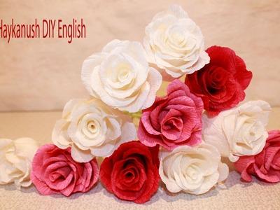 Como Hacer Flores de Papel Crepe Rosa Flores