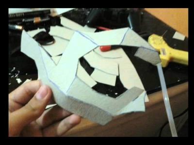 Cómo hacer máscara  calavera muy sencilla parte 1