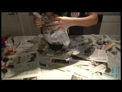 ¿Cómo hacer una máscara del Diablo de papel maché?