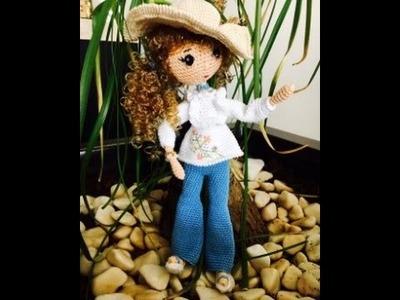 Como tejer muñeca Liliana amigurumi OCTAVA PARTE