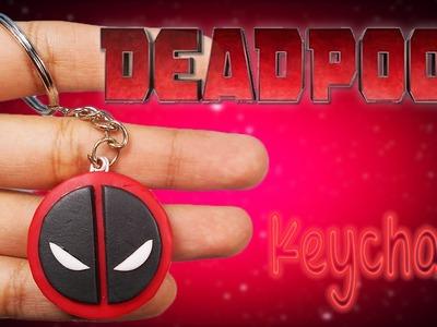 ✰ Deadpool Logo Keychain Tutorial ✔ Polymer Clay ✔ Porcelana Fría