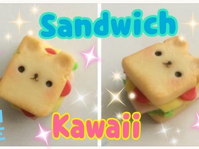Sandwich Kawaii De porcelana fría. Manualidades Kawaii Fáciles
