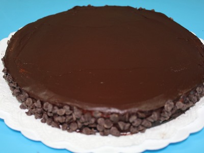 Tarta de Oreo con Mousse de chocolate y glaseado