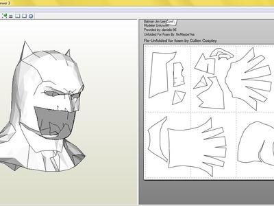 Tutorial, como hacer la mascara de batman (BvS) pepakura