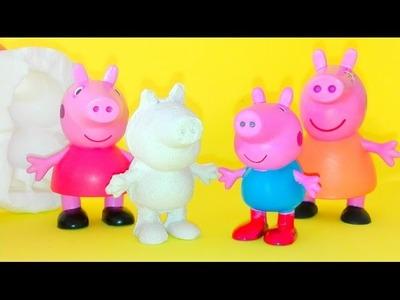 COMO HACER MUÑECOS EN ESCAYOLA DE PEPPA PIG LA CERDITA Y GEORGE PIG  2. SORPRESAS SILVIA