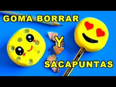 GOMA BORRADOR SACAPUNTAS CASERO quesito Kawaii y Emojis - Manualidades Ahora