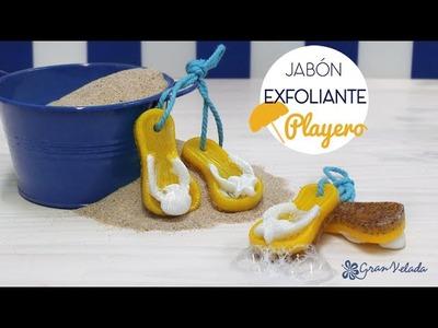 Hacer Jabón exfoliante Playero para regalar