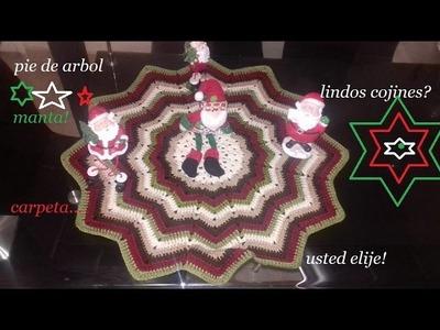Pie de árbol,manta, carpeta,o cojines navideños