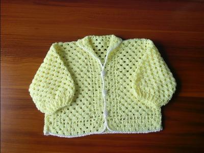 Suéter de bebé desde recién nacido a 1 año parte 1