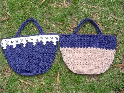 Tutorial bolso tejido a crochet paso a paso DIY parte 1