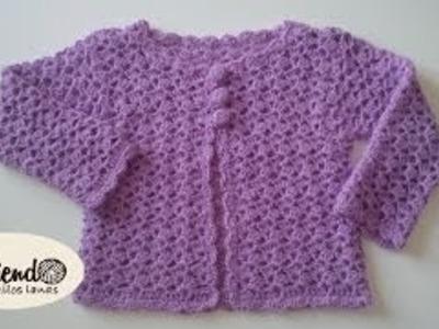 Chaleco para niña tejido a crochet (1 de 2)