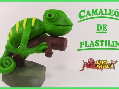 Como Hacer a un Camaleón de Plastilina. Porcelana Fria. How to make Chameleon with clay