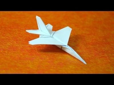 Como hacer un avión de papel F-16 de combate - aviones de papel