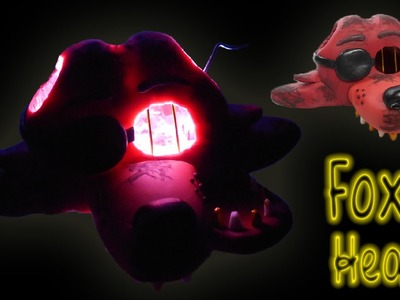 FNAF 3 ✰ Foxy Bad Ending Head Lamp Tutorial ✔ Polymer Clay ✔ Porcelana Fría