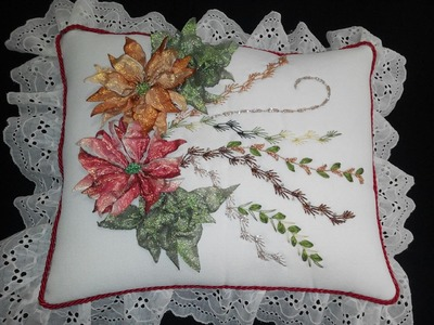NOCHEBUENA TRADICIONAL PARA COJÍN (Traditional Poinsettia For pillow cushions)