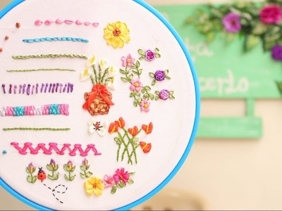 Bordado en cinta para principiantes 7.7 - Embroidered  ribbons for beginners